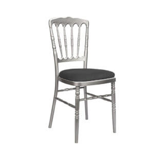 Silver-Resin-Inner-Steel-Core-Napoleon-Chair black-1000